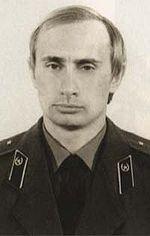 Russian President Vladimir Putin during his KGB days