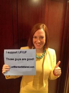 That day State Department Spokeswoman Jen Psaki threw us some love.